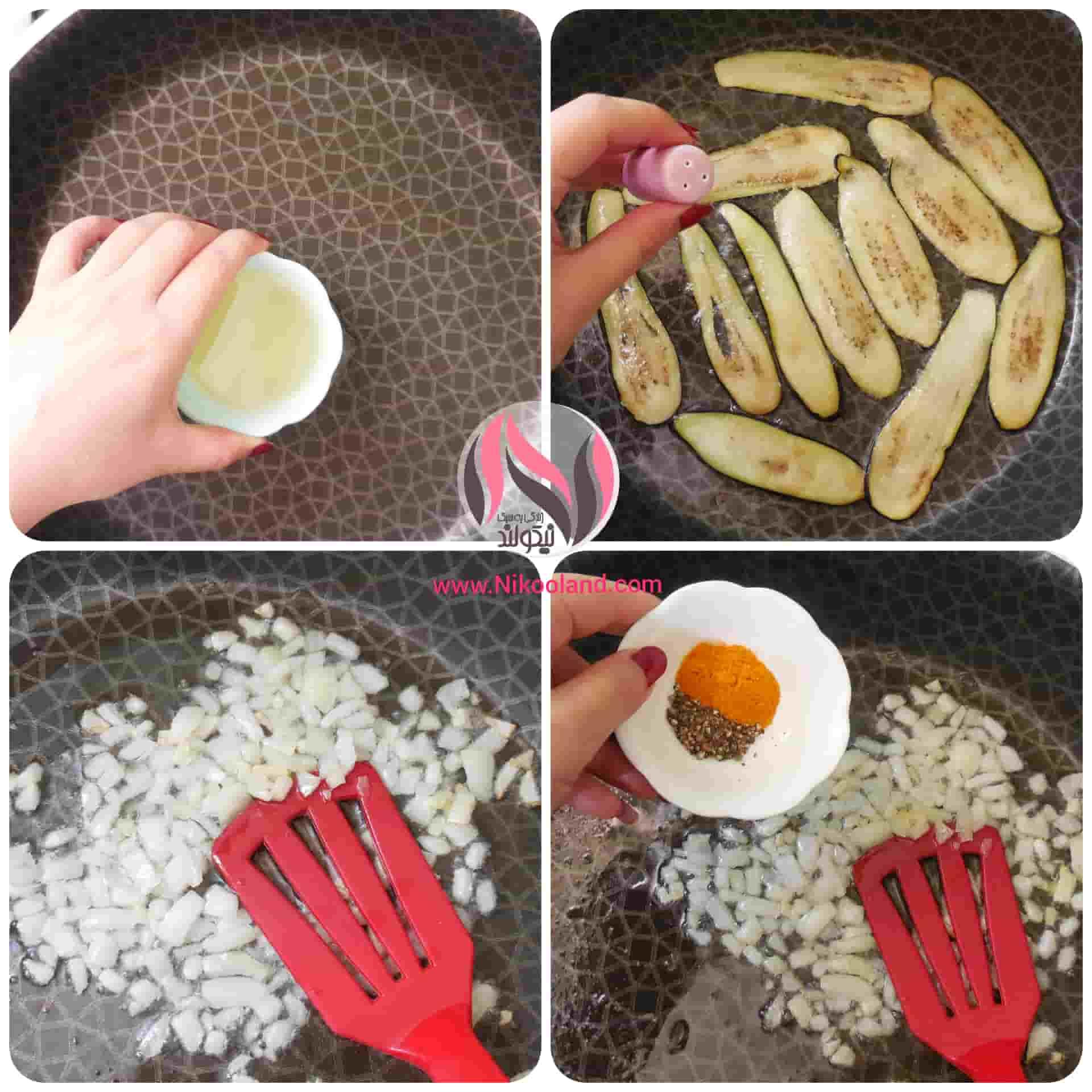 طرز تهیه بادمجان حصیری